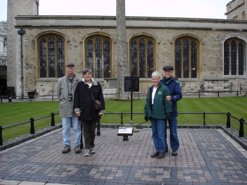 The four of us in England