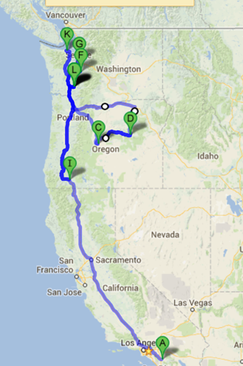 3,500 miles and 60 hours of driving in two months.